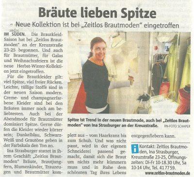 Zeitungsartikel von Zeitlos designed by IB in Dortmund